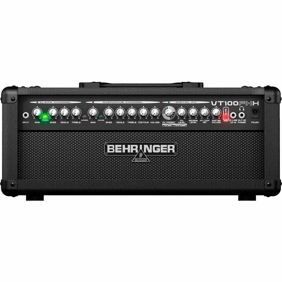Amplificador Cabeçote Behringer Virtube VT100FXH 100W para Guitarra