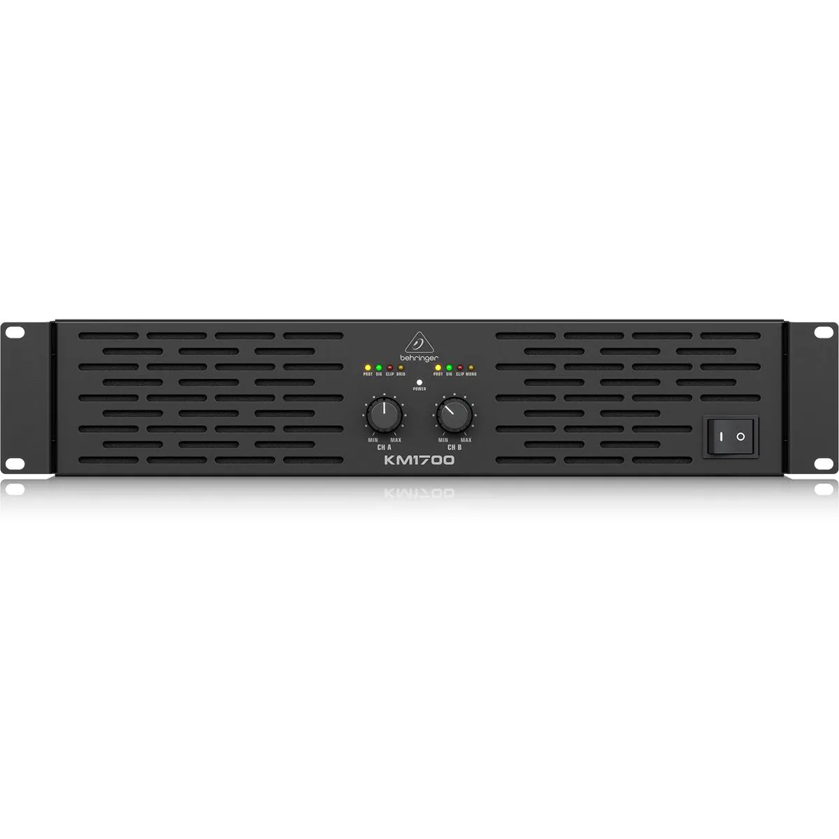 Amplificador de Pontencia  Behringer KM1700 de 2 Canais