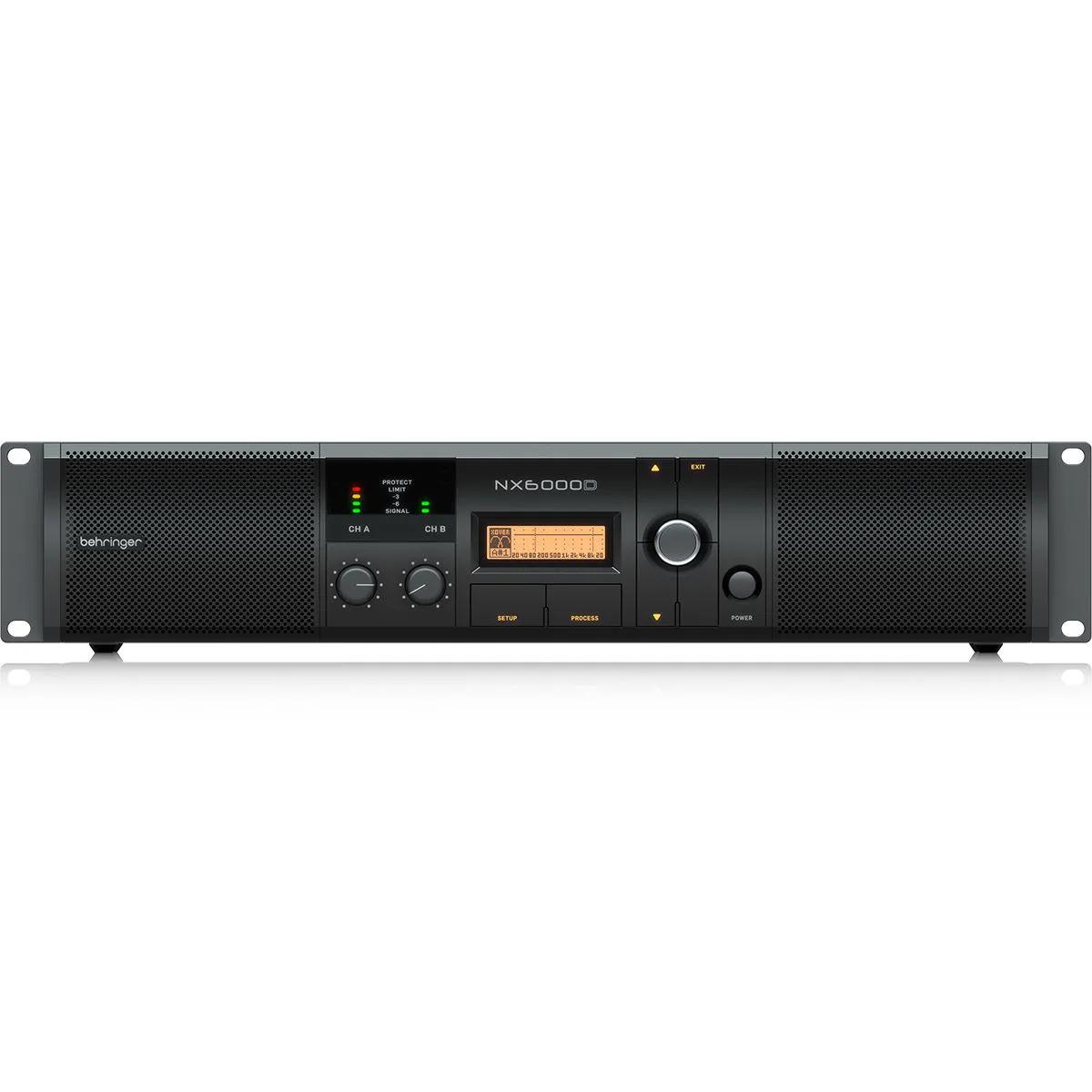 Amplificador de Potência Behringer NX6000D com DSP 2 Canais