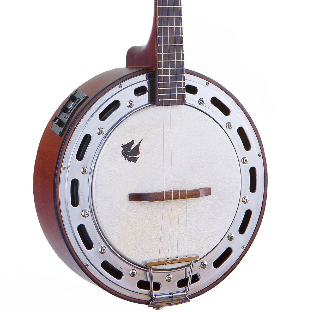 Banjo Eletro-Acústico Marquês BAJ-87 Ativo Castanho