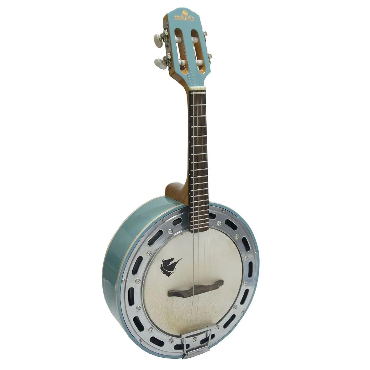 Banjo Eletro-Acústico Marquês BAJ-88 Passivo 4 Cordas Azul