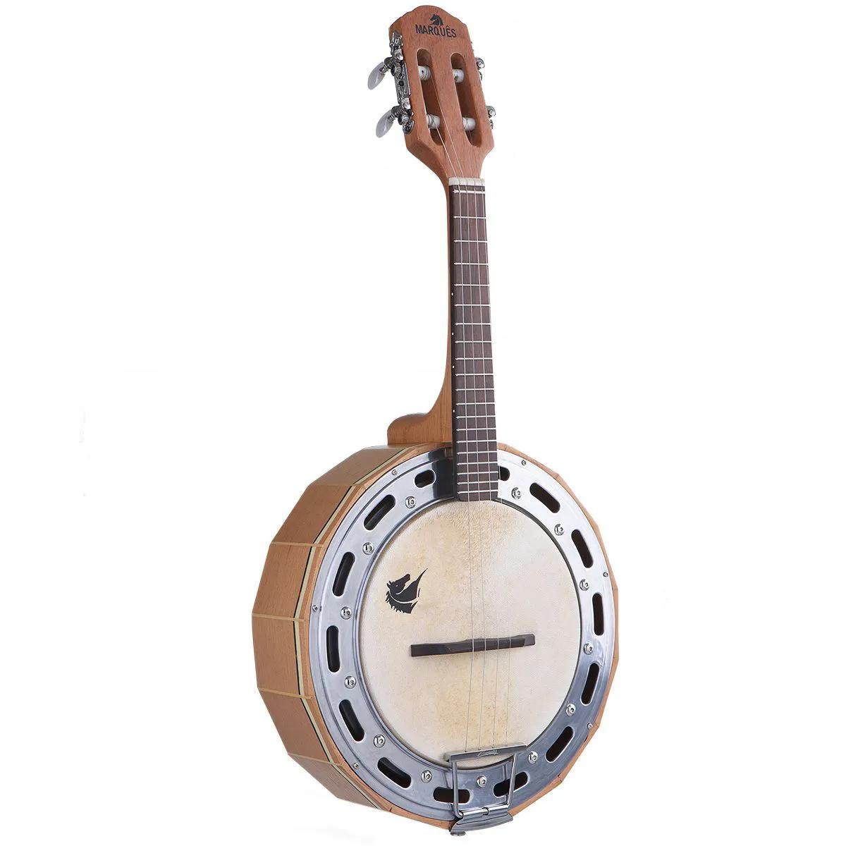 Banjo Eletro-Acústico Marquês BAJ-98 Madeira Passivo Natural