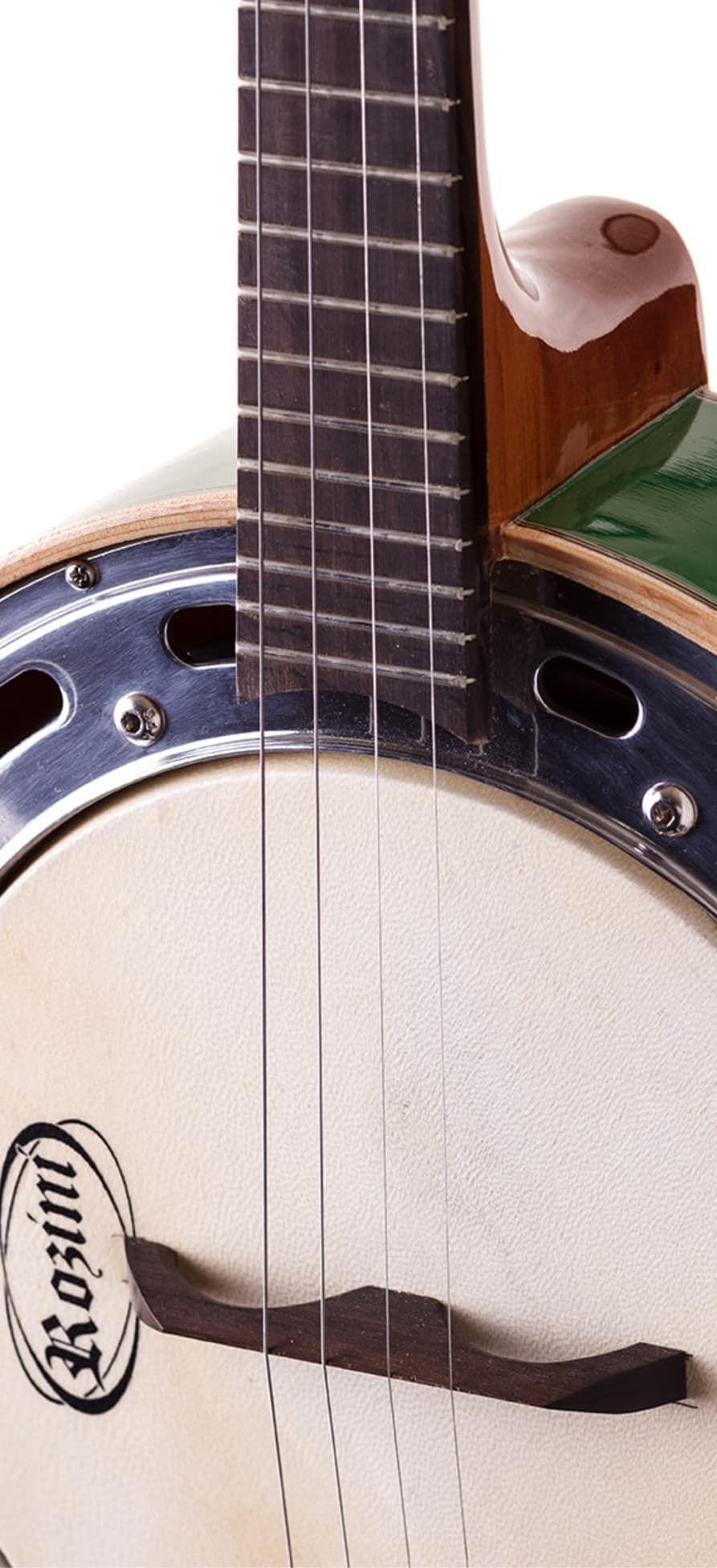 Banjo Eletro-Acústico Rozini RJ11ELV Studio Caixa Larga  Verde