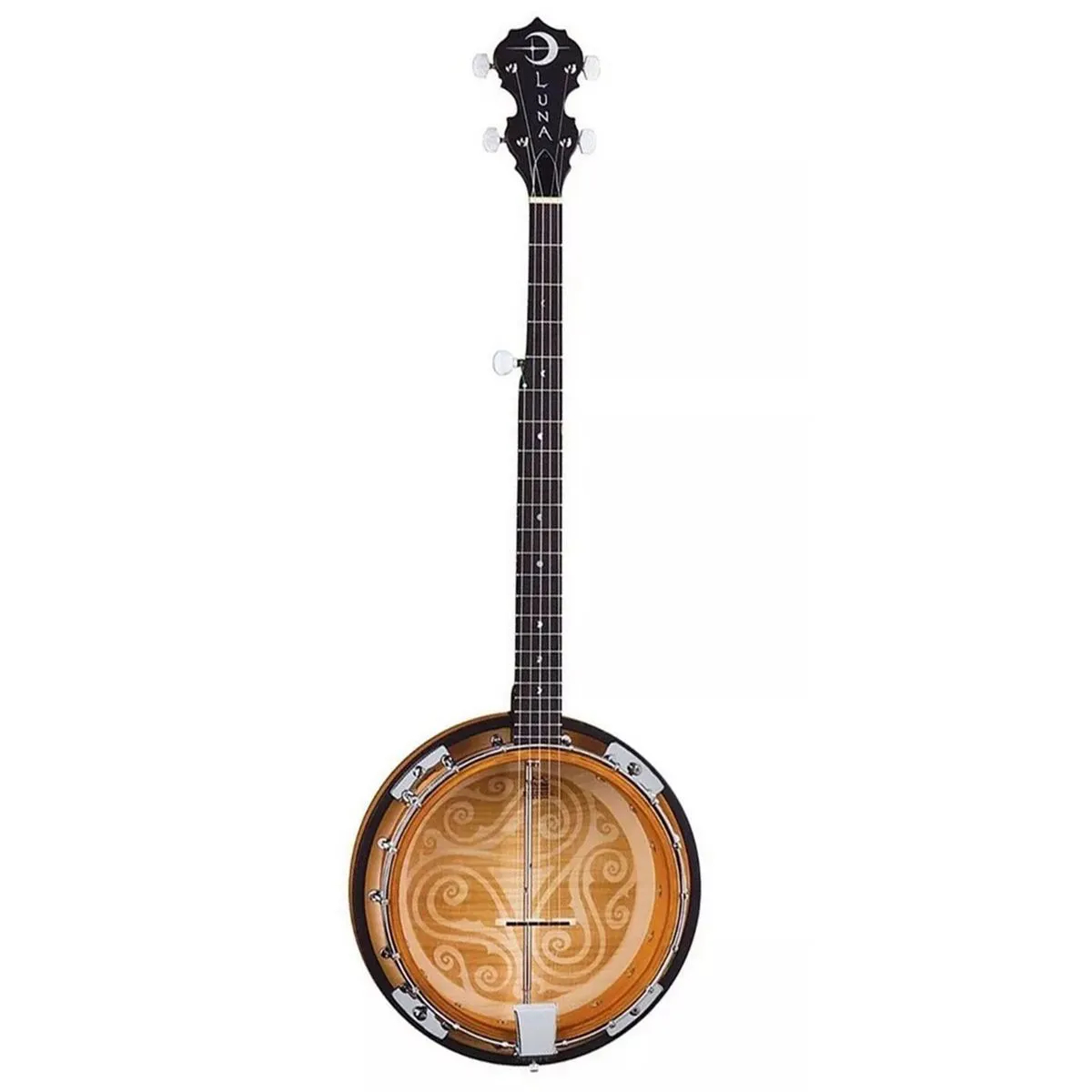 Banjo Luna Guitars BGB Celtic 5 Cordas Tobacco Sunburts