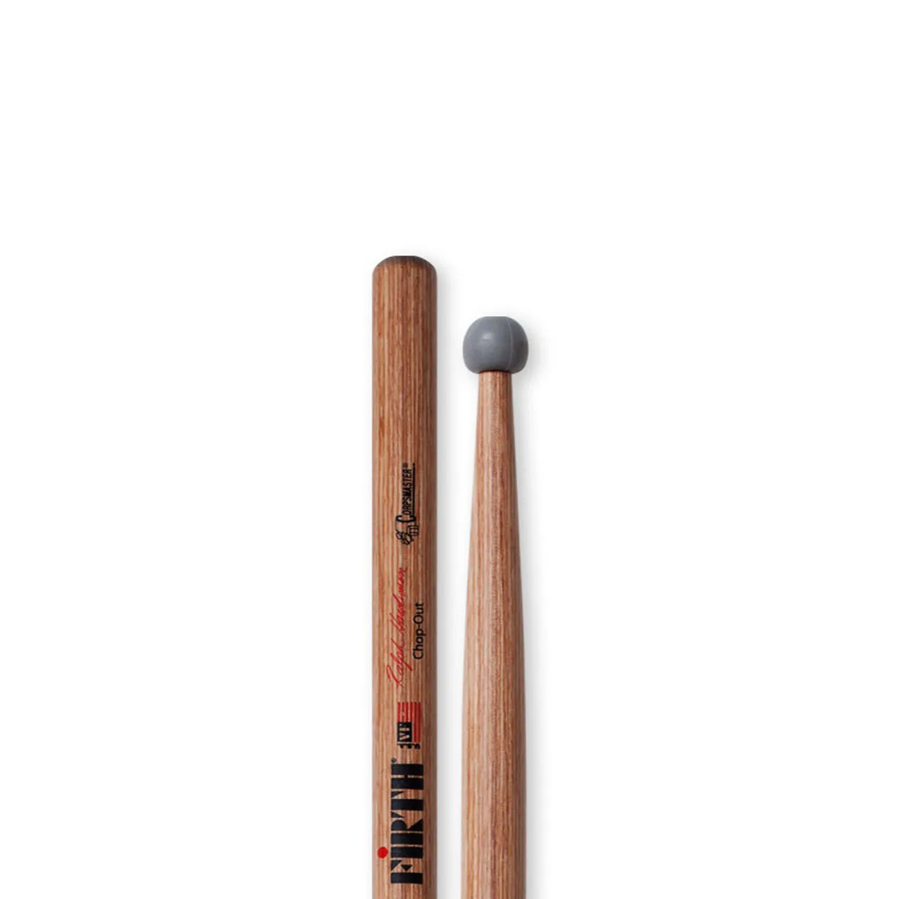 Baqueta Corpsmaster Ms6 Chop-out Ponta De Borracha P/caixa Marcial Ms6co Vic Firth