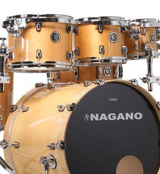 Bateria Acústica Nagano Concert Full Lacquer Gold Natural