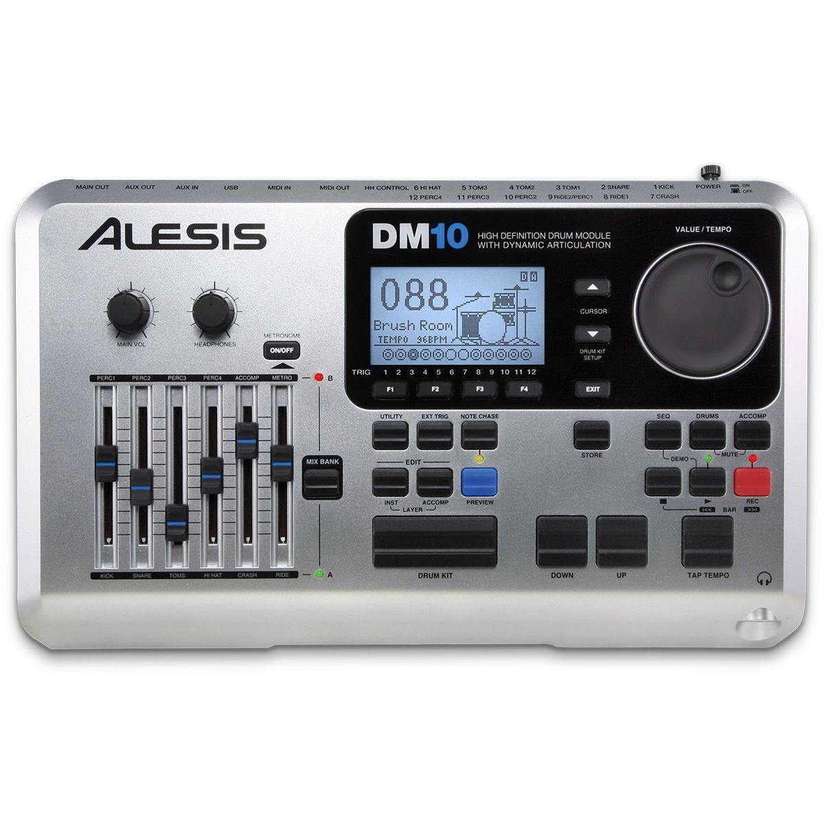 Bateria Eletrônica Alesis Dm10 Studio Mesh Kit Profissional