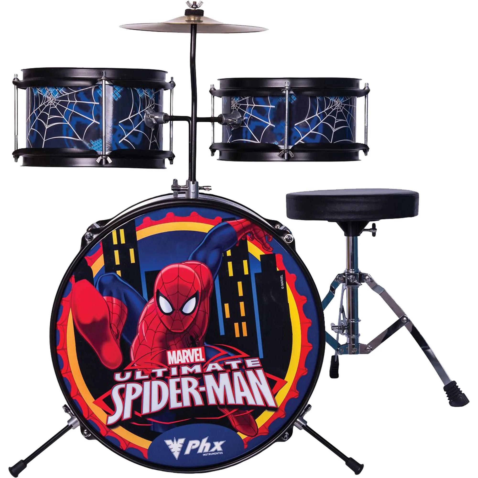 Bateria Infantil PHX BIM-S1 14 Marvel Homem-Aranha Azul