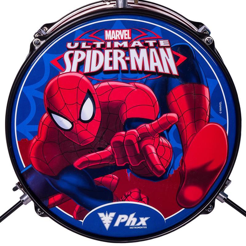 Bateria Infantil PHX BIM-S2 Marvel Série Homem-Aranha Vermelha