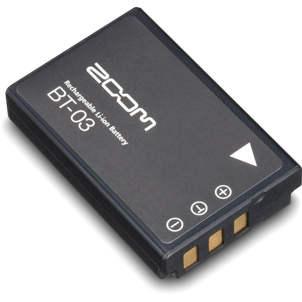 Bateria Recarregável Zoom BT03 para Gravador Q8