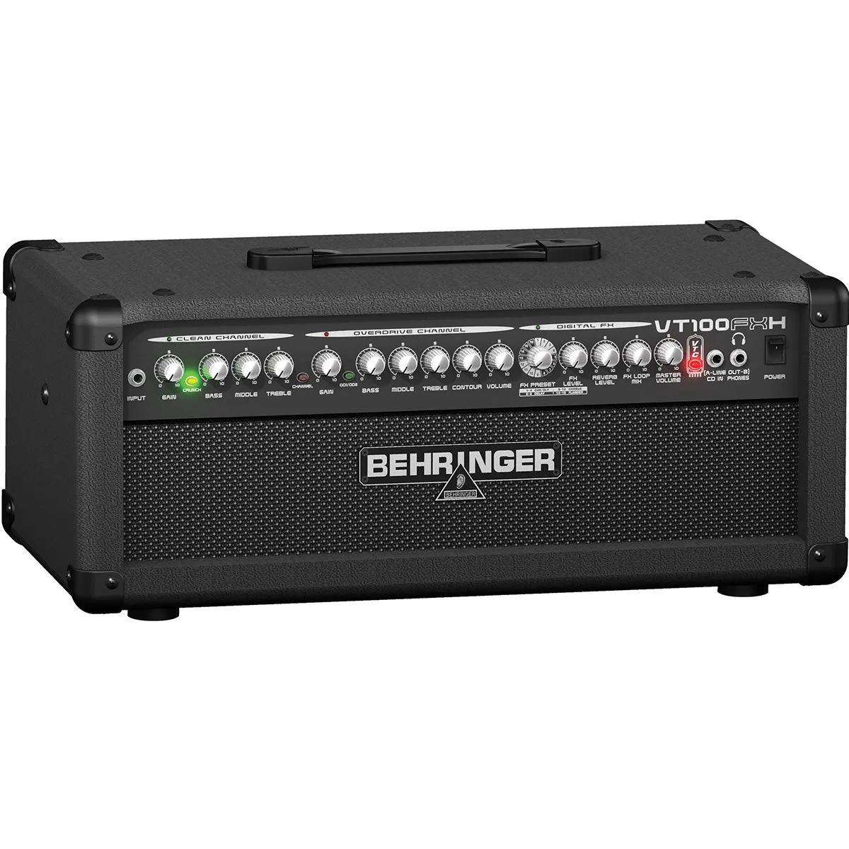 Cabeçote Behringer Virtube VT100FXH 100W para Guitarra