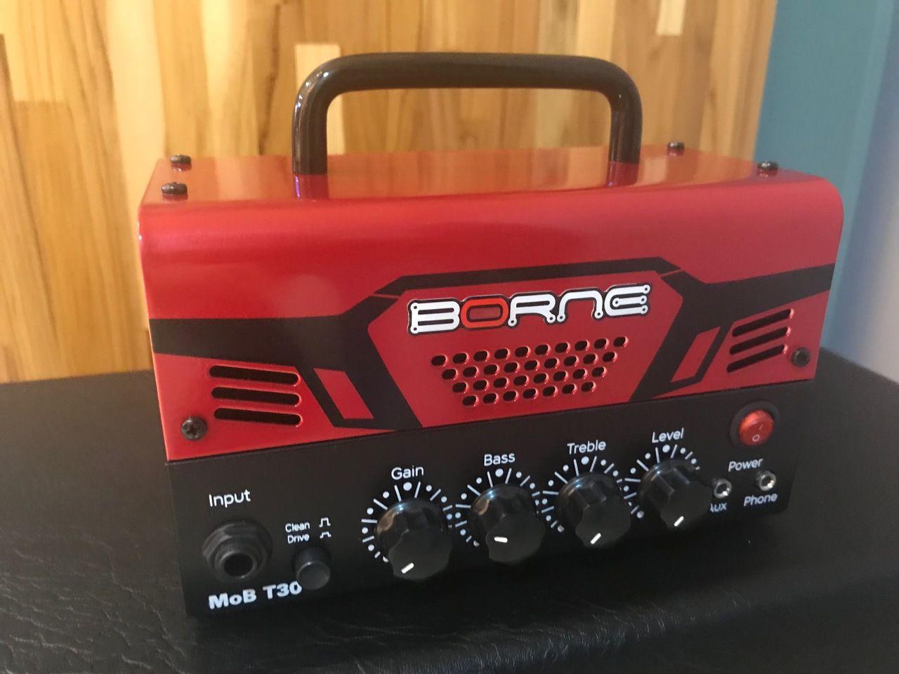 Cabeçote para Guitarra Borne MOB T30 30W Vermelho