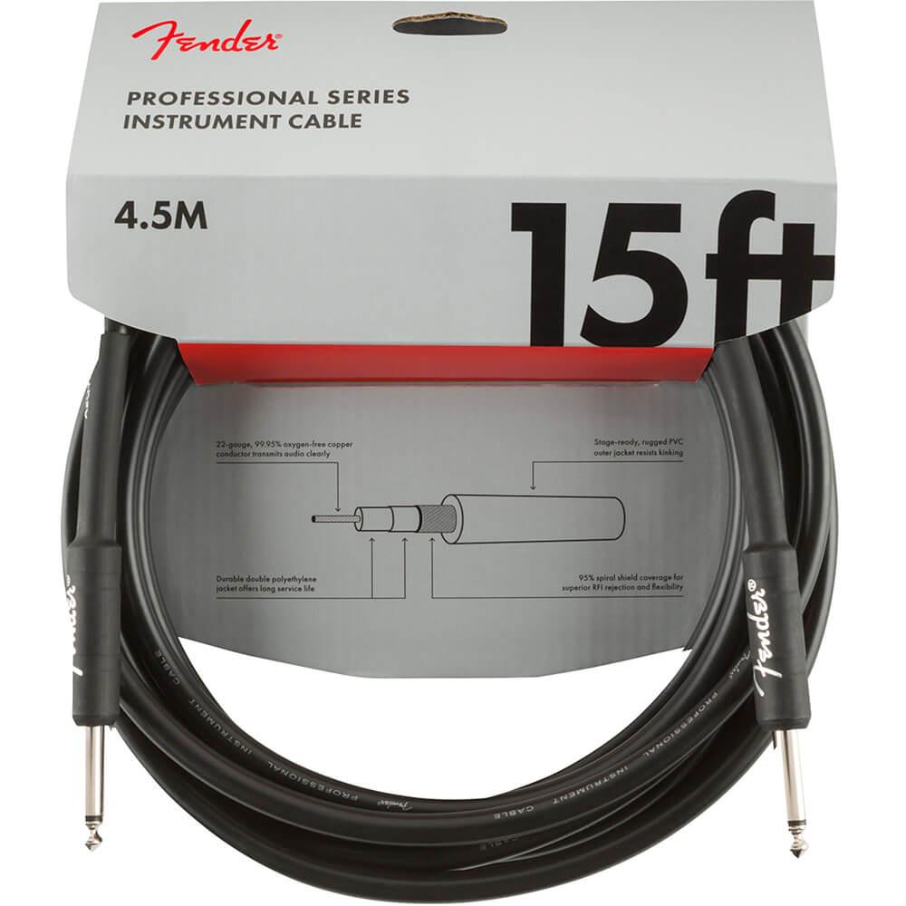Cabo Fender Professional Series Preto P10 x P10 4,5m
