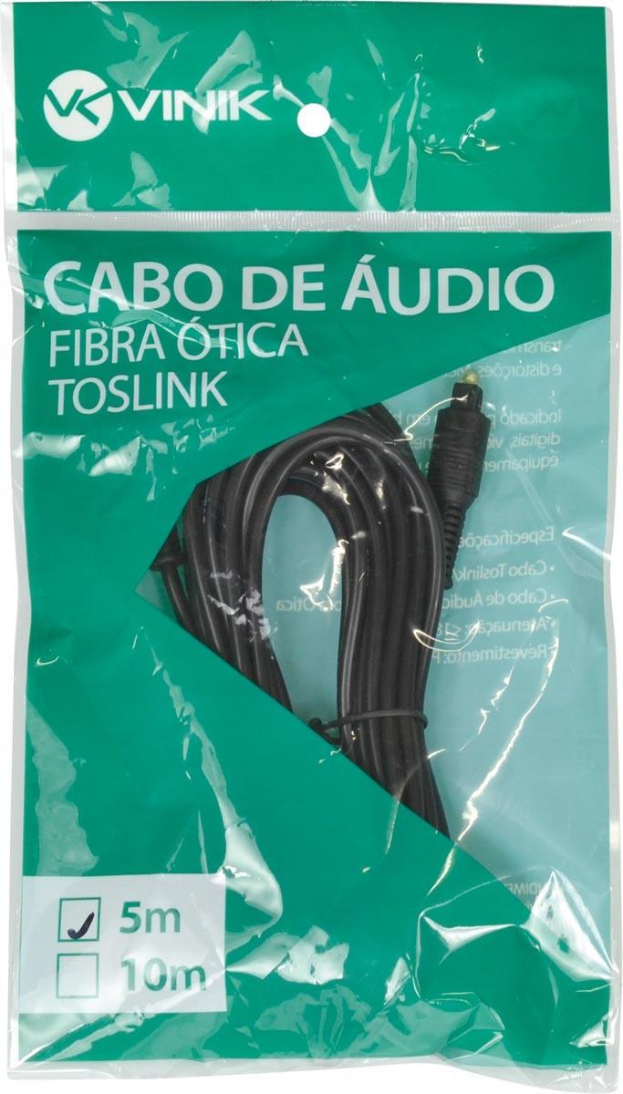 CABO ÓPTICO DE ÁUDIO TOSLINK 5 METROS ATC-5