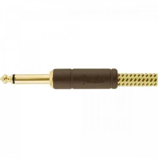 Cabo para Instrumentos P10 x P10 4,5m DELUXE SERIES Amarelo Tweed FENDER