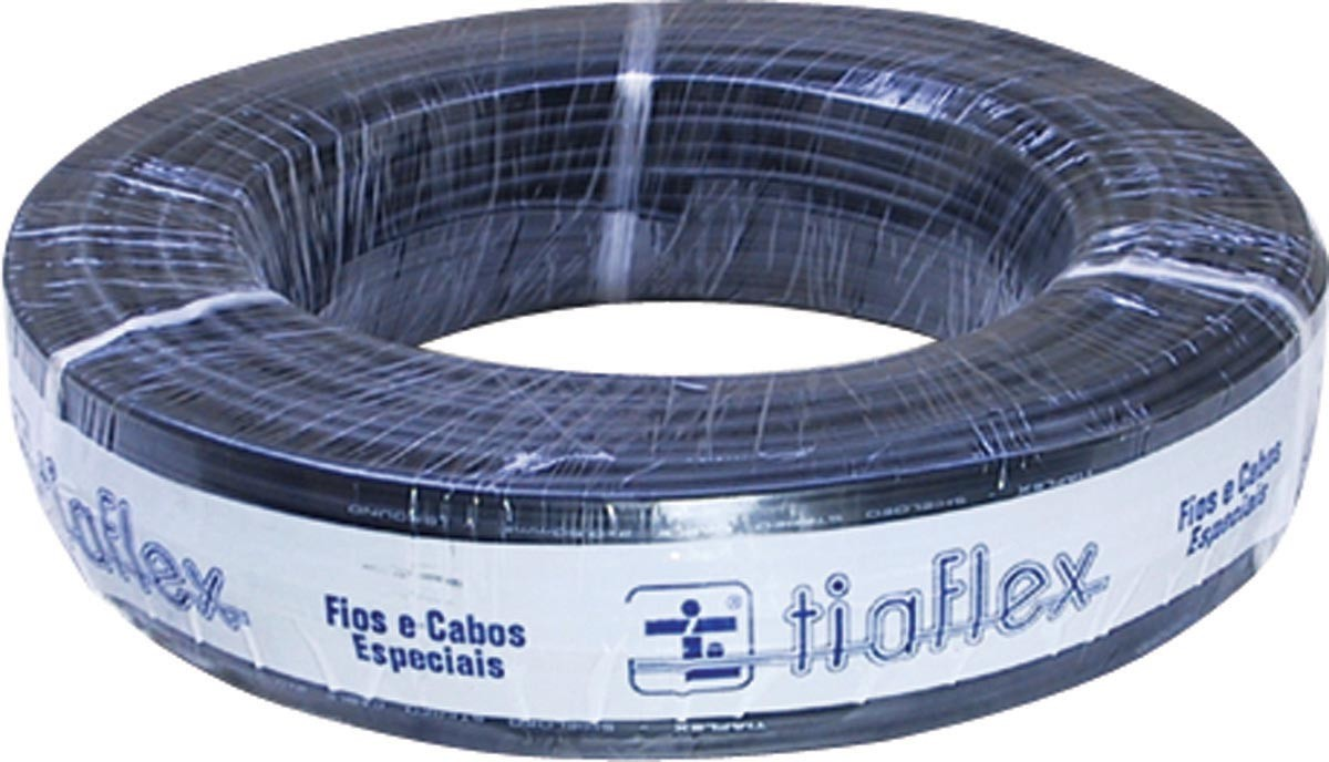 CABO STÉREO PHILIPS 2X0,20MM (24AWG) 100M PRETO