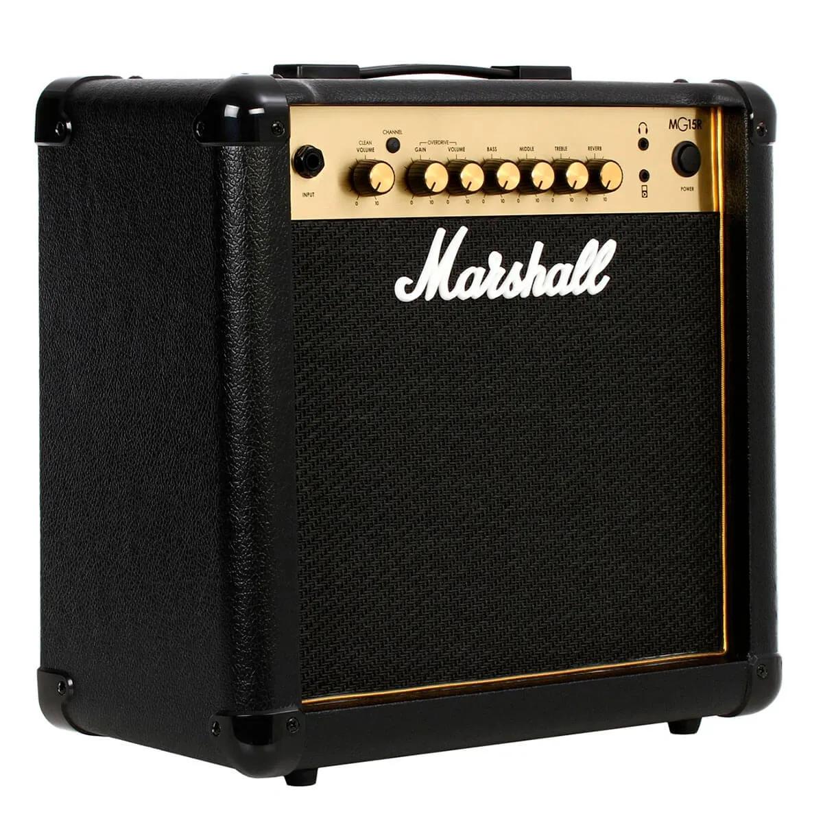 Caixa Amplifica Marshall MG15R Gold 15W 1x8 para Guitarra