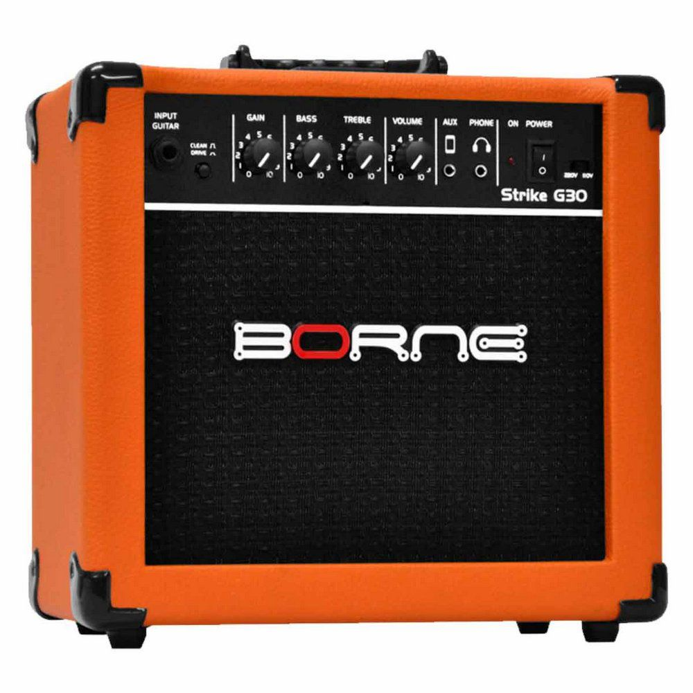 Caixa Amplificada Borne Strike G30 1x6,5'' 15W RMS Orange