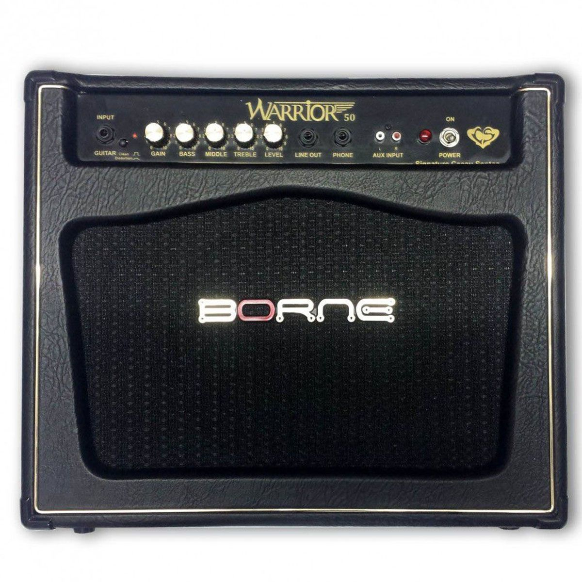Caixa Amplificada Borne Warrior 50 1x10 50w RMS Black