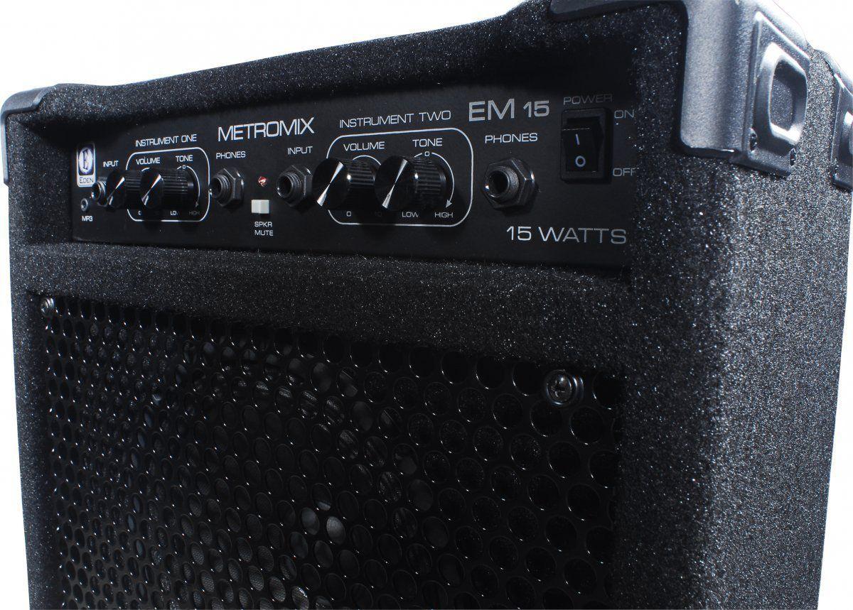 Caixa Amplificada Eden EM15 Metromix 15W 1x8 para Contrabaixo