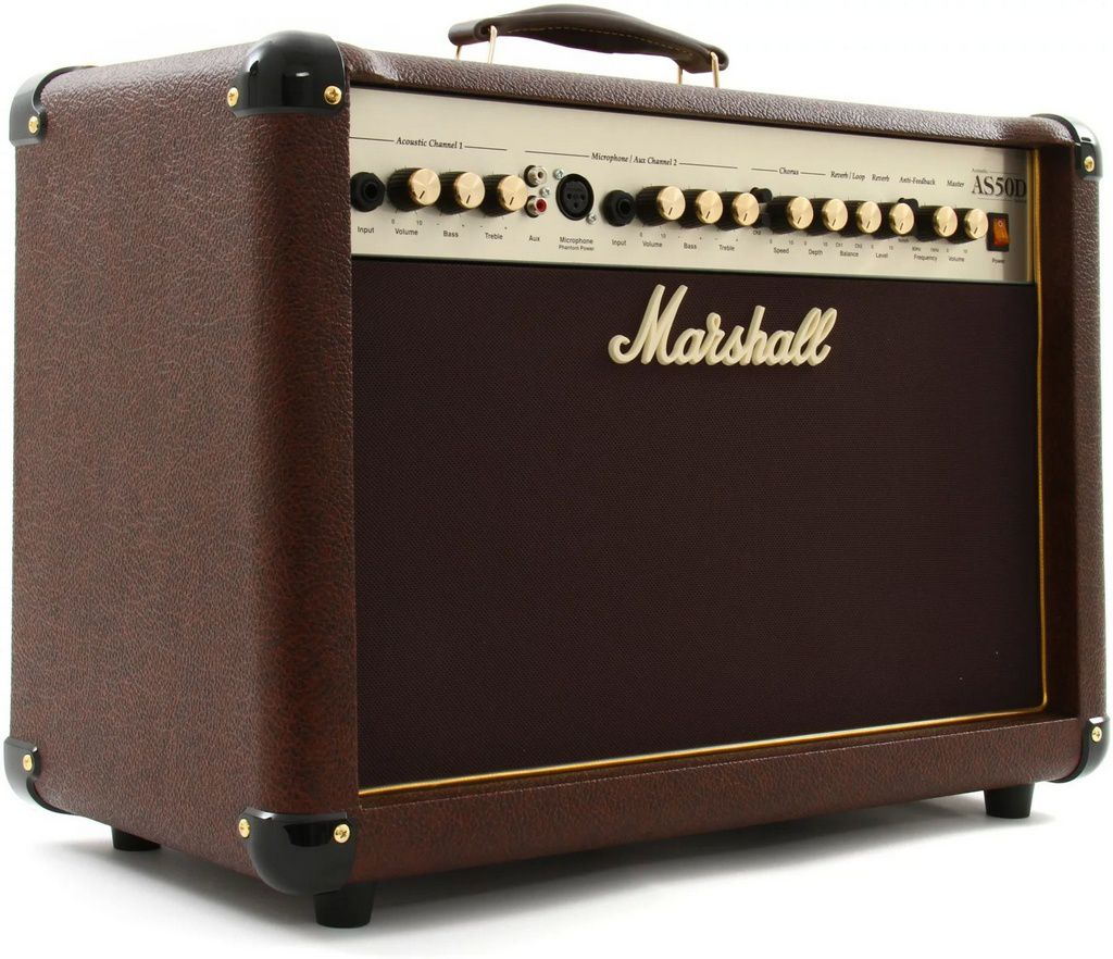 Caixa Amplificada Marshall AS50D Acoustic 50W 2x8 para Violão