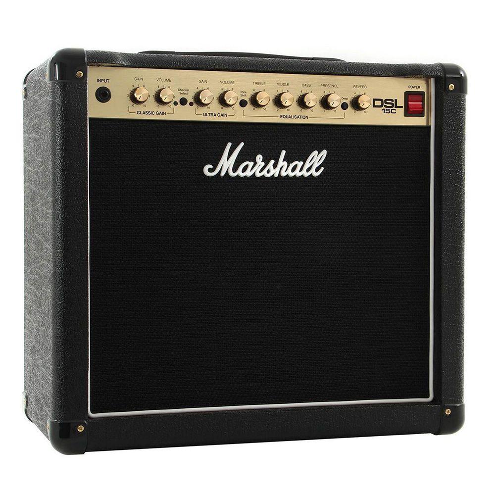 Caixa Amplificada Marshall DSL15C 15W 1x12 para Guitarra