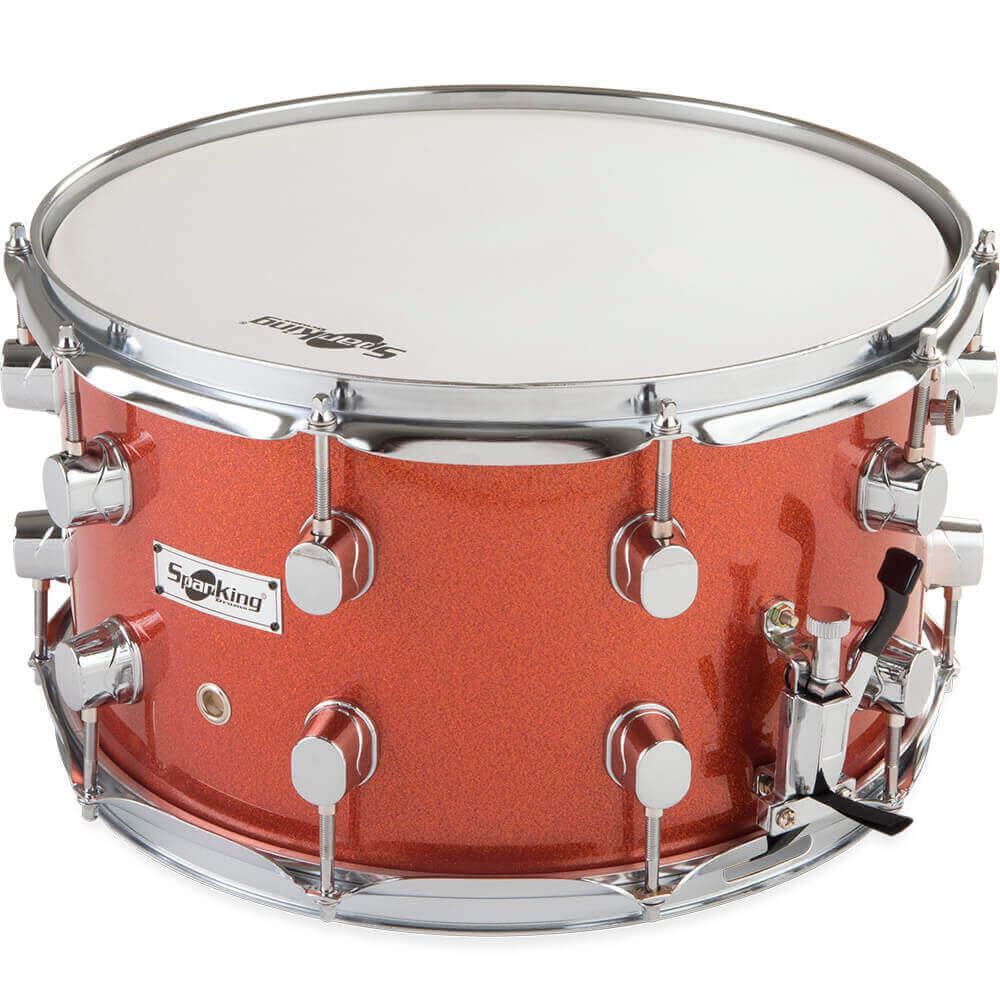 Caixa de Bateria Spanking 14x8 Aro 2.00mm  Red Light Sparkle