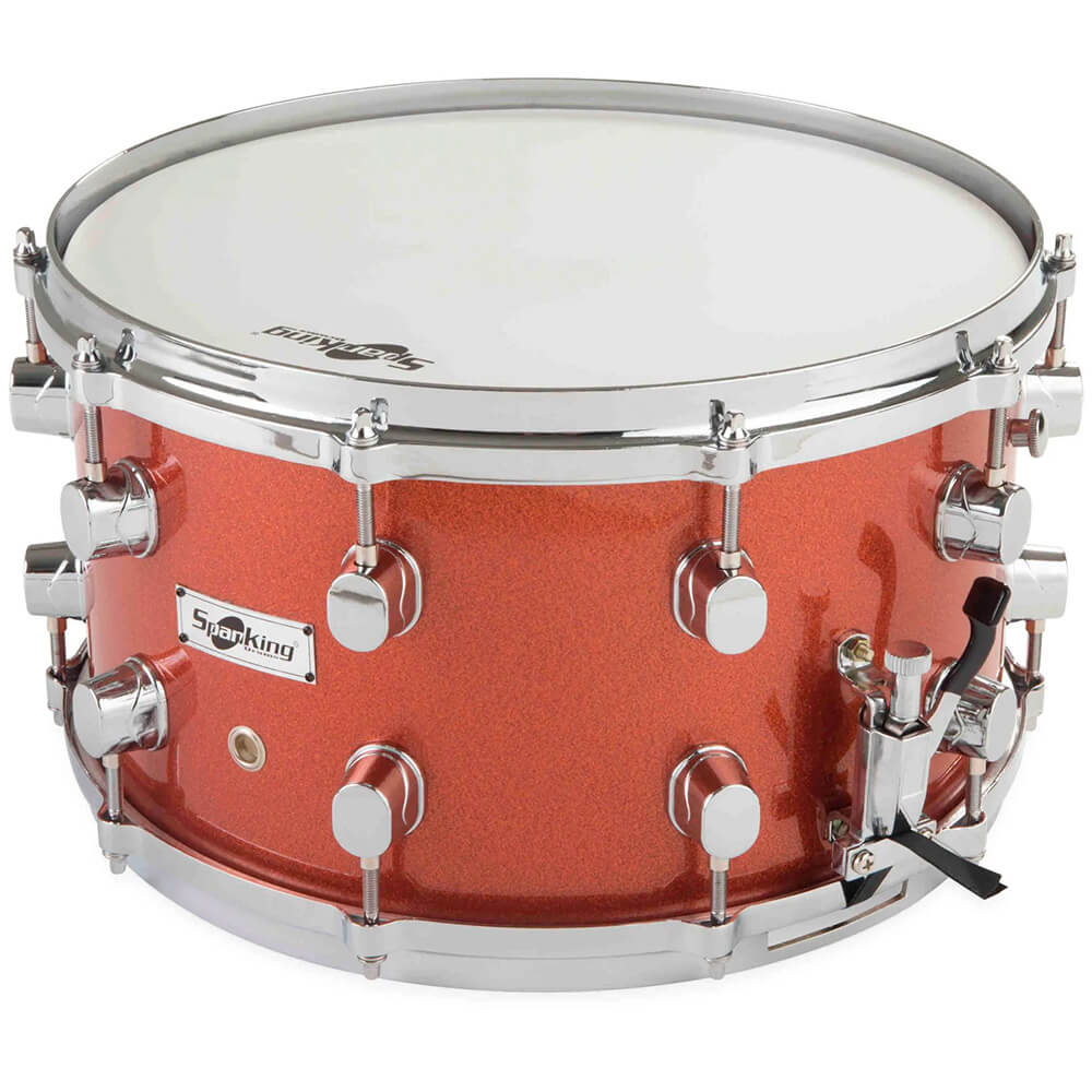 Caixa de Bateria Spanking 14x8 Aro Die Cast Red Light Sparkle