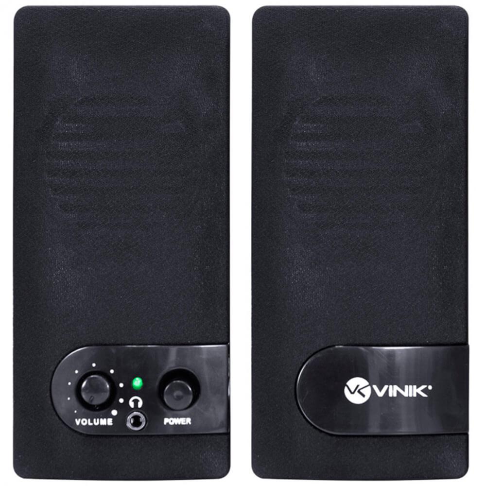 Caixa de Som Vinik VS-202 ONE 2.0 6W Preta USB
