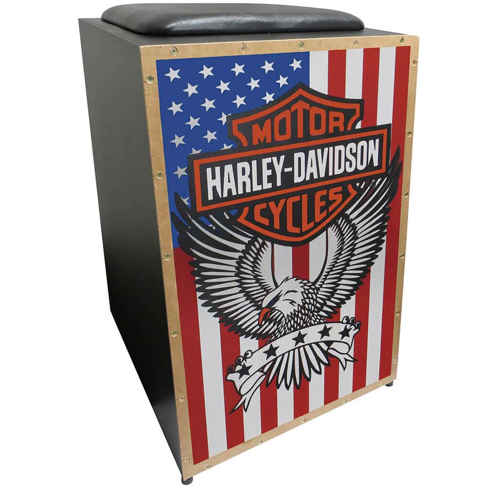 Cajon Acústico Inclinado Jaguar K2 COR-005 Harley Davidson