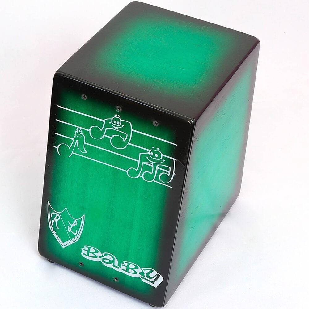 Cajon Inclinado Real Line Baby Acústico Verde