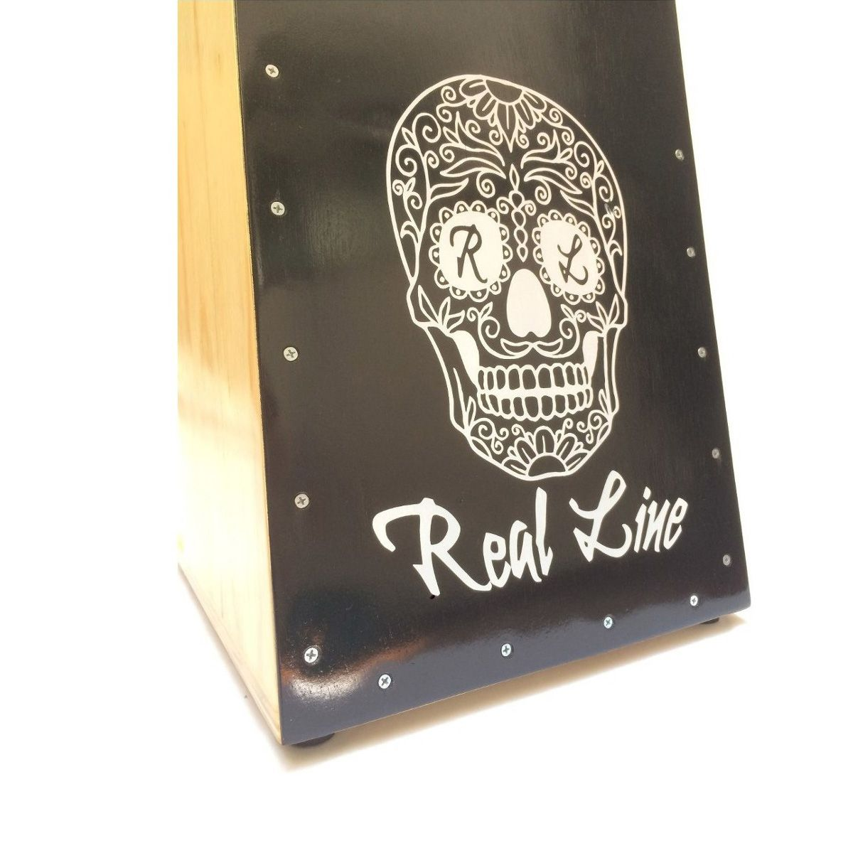 Cajon Inclinado Real Line UP Chicano Elétrico Preto