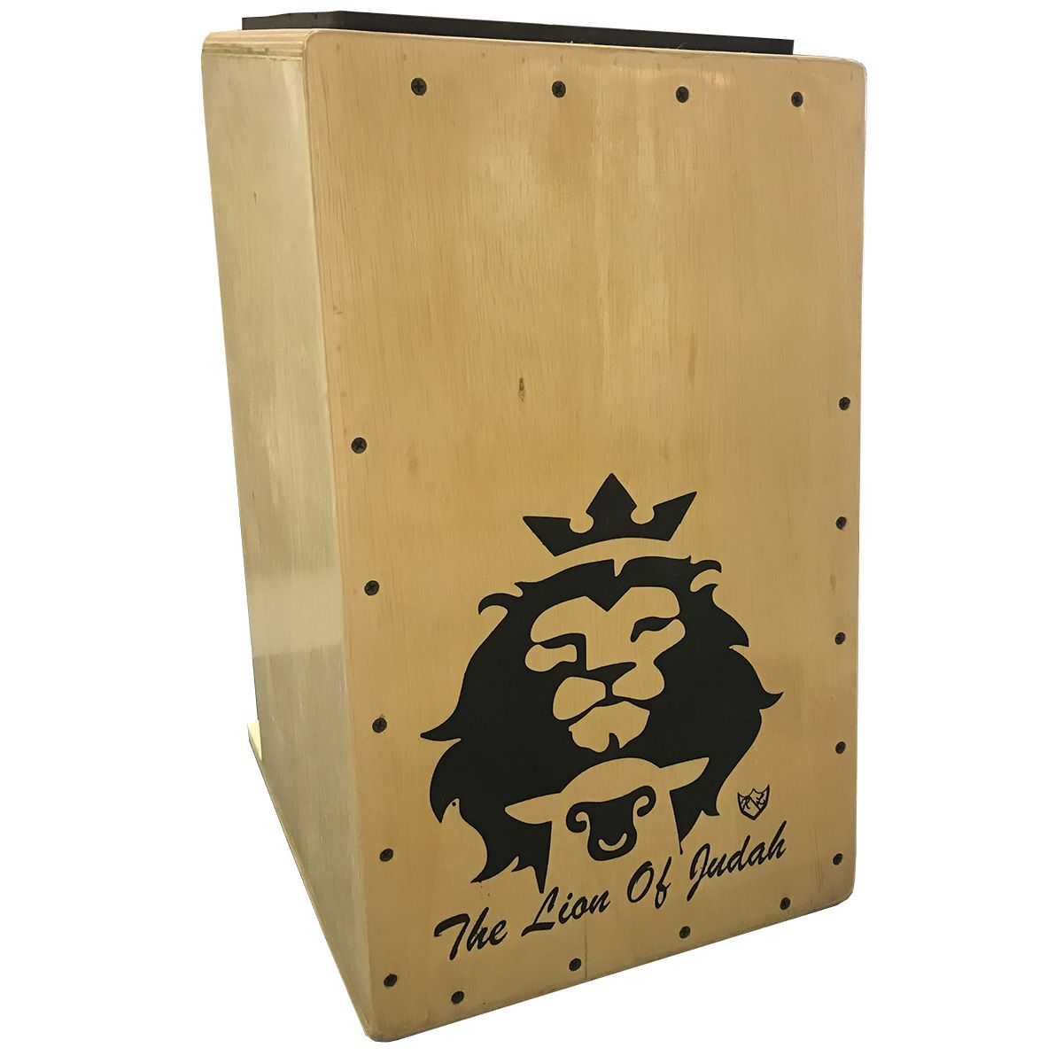 Cajon Inclinado Real Line UP Leão de Judá Elétrico Natural