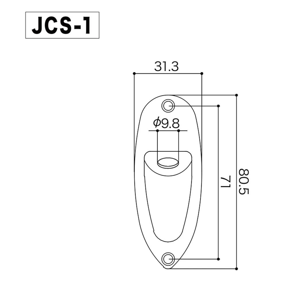 Canoa Jack Plate Gotoh JCS-1 Cromada para Guitarra