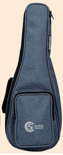 Capa Custom Sound UKS Premium para Ukulele Soprano Dark Blue