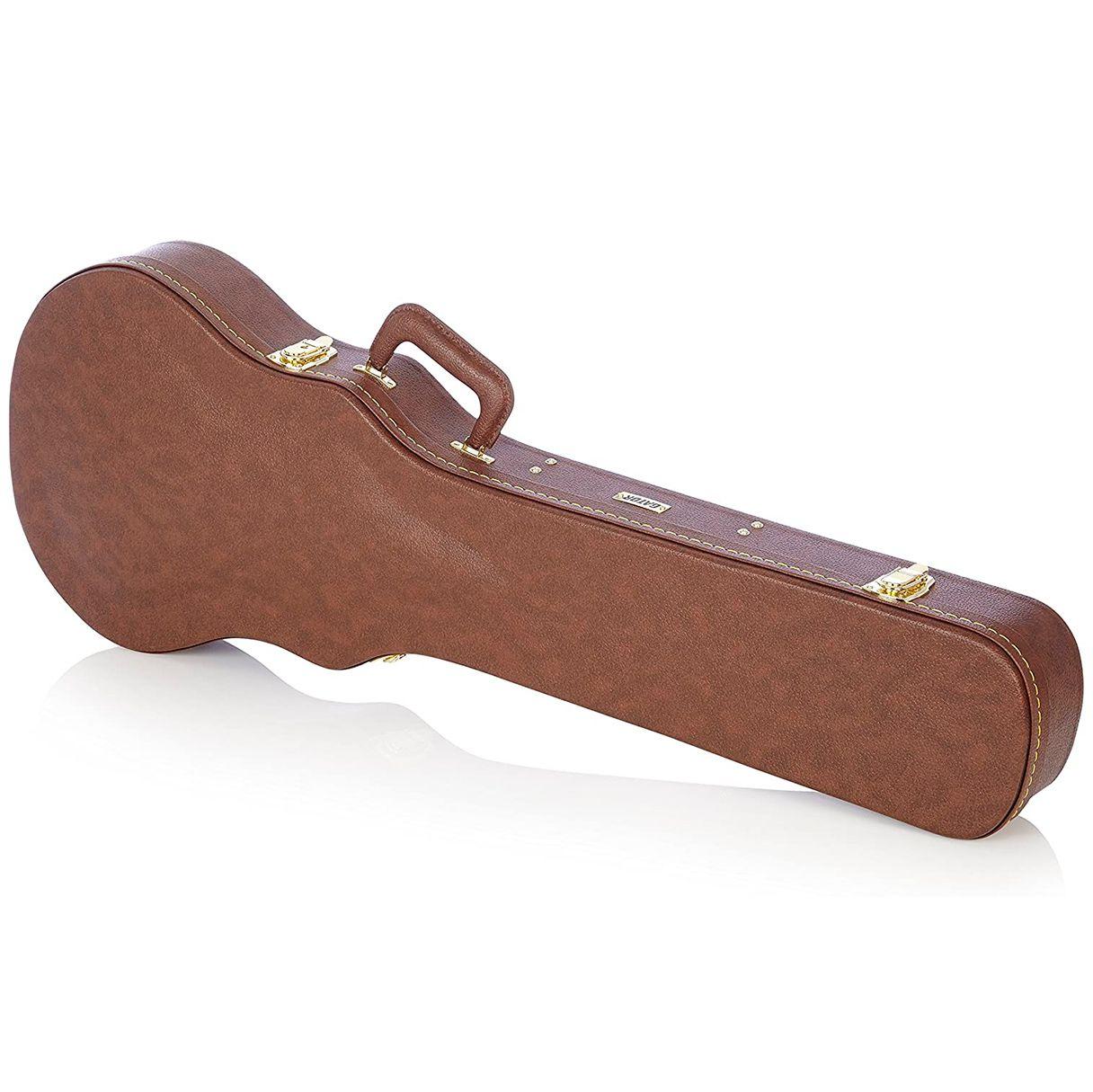Case Gator GW-LP-Brown em Madeira para Guitarra Les Paul