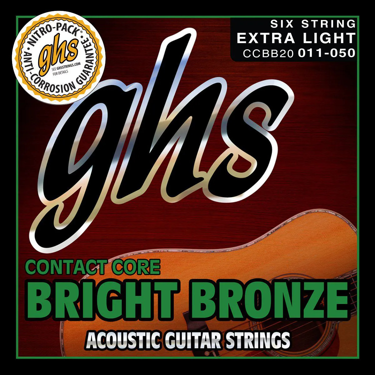 CCBB10 - ENC VIOLAO ACO CONTACT CORE BRIGHT BRONZE 010/046 - GHS