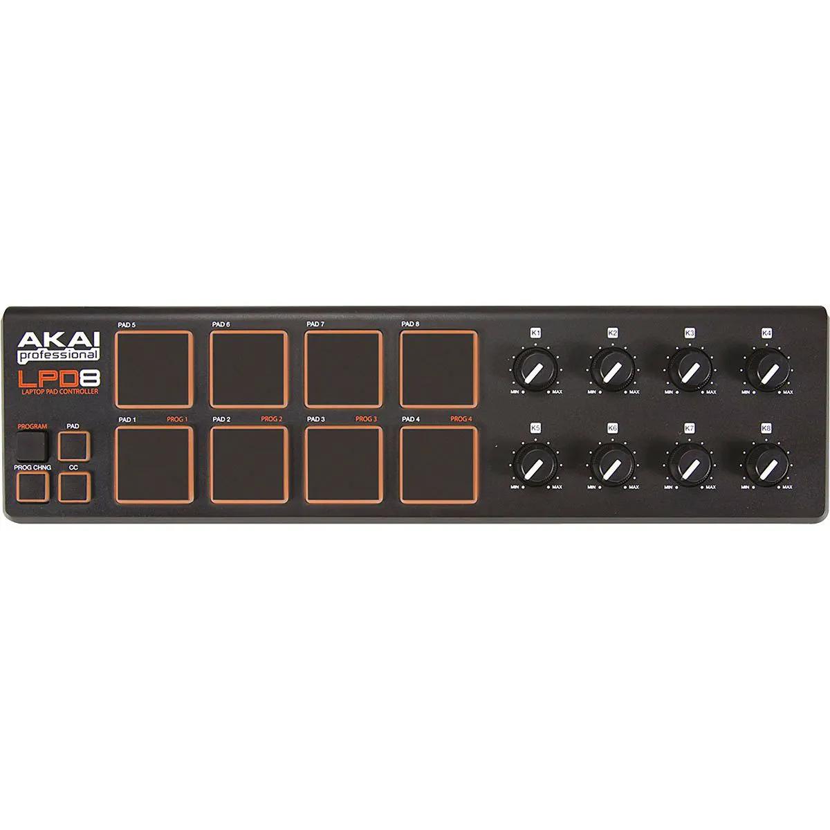 Controlador Akai Professional LPD8 V2 Laptop Pad
