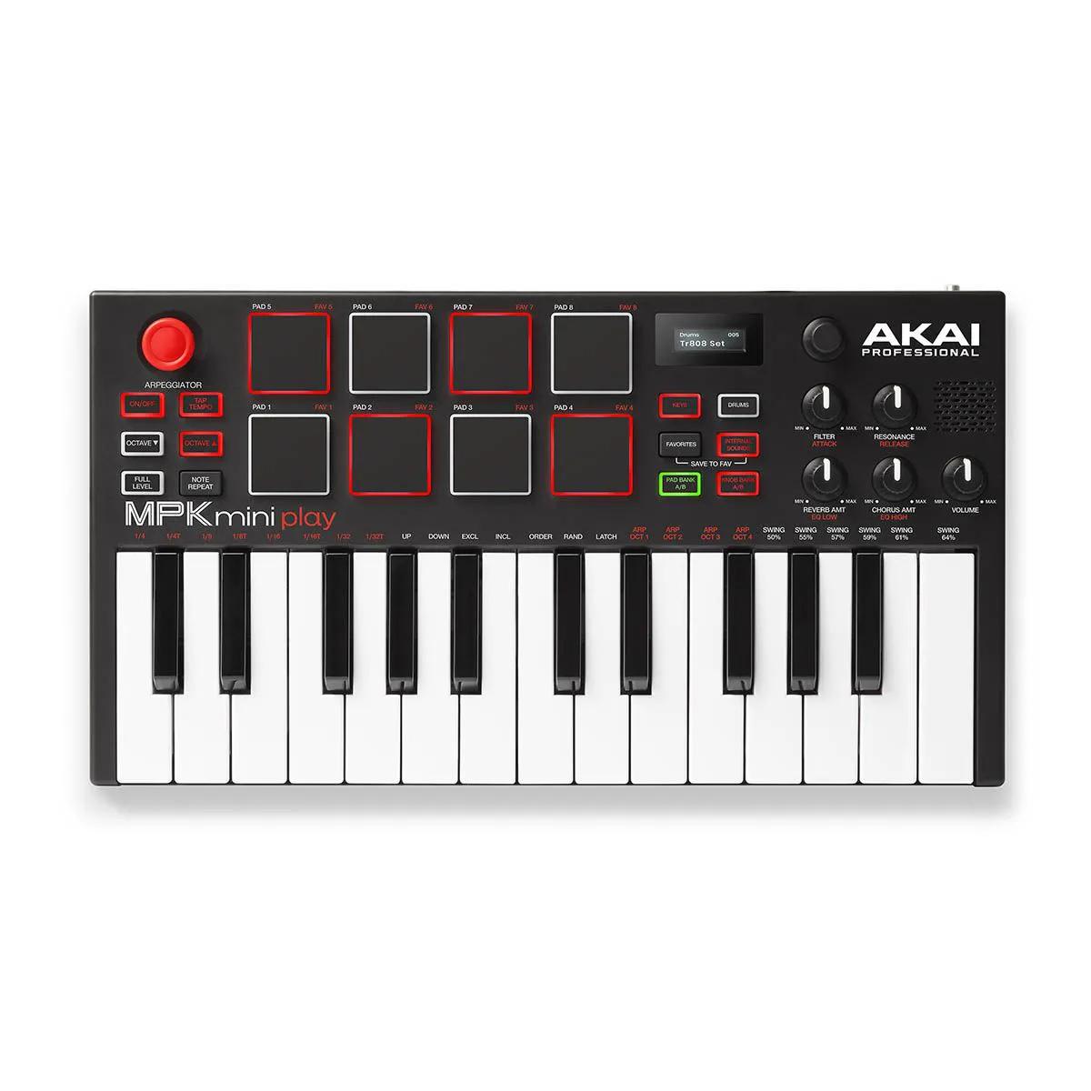 Controlador Akai Professional MPK Mini Play 25 Teclas