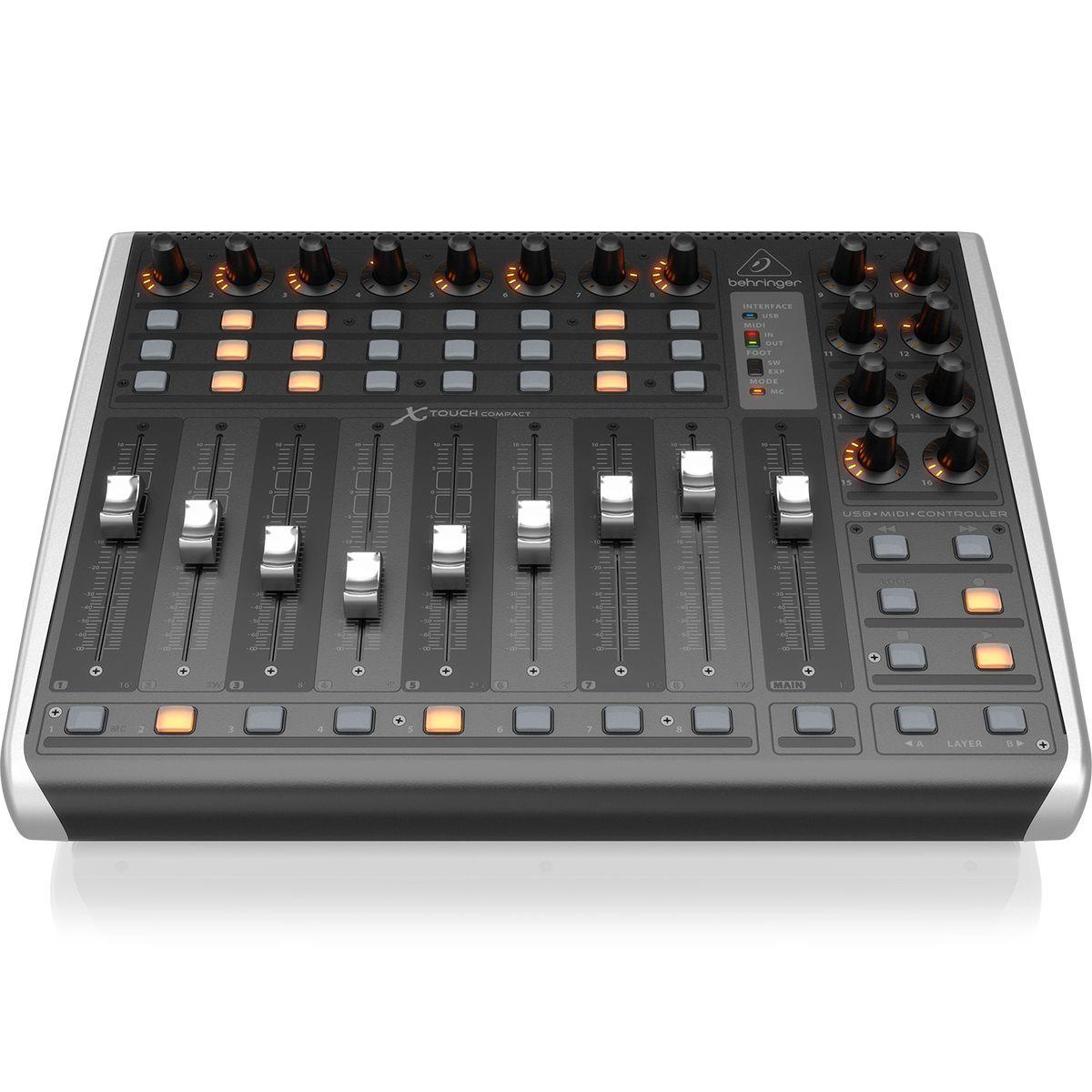 Controlador Behringer X-TOUCH-COMPACT MIDI / USB de 9 Faders