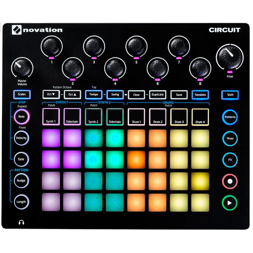 Controlador Novation Circuit Groove Box Modeling Synthesizer USB
