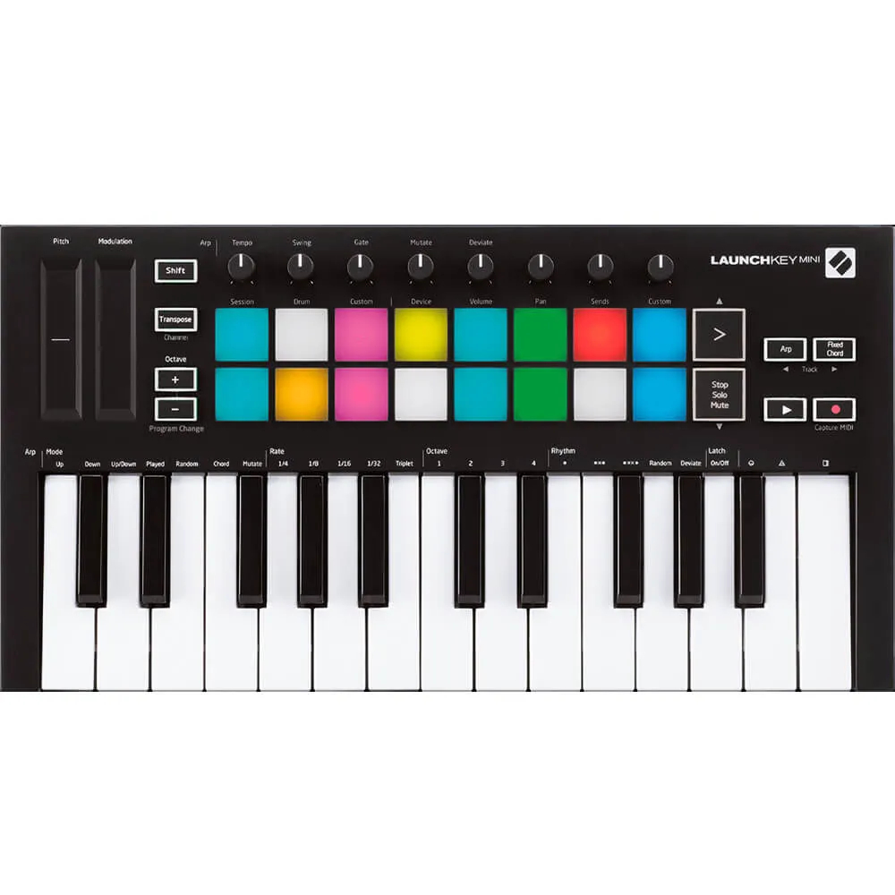 Controlador Novation Launchkey Mini mk3 USB 25 Teclas