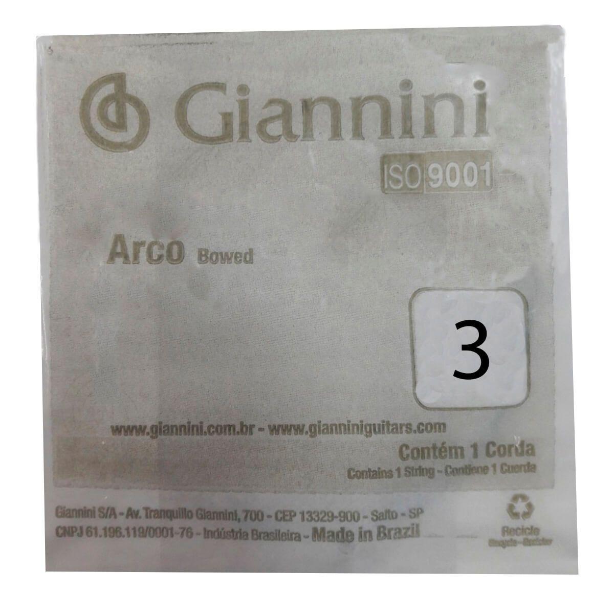 Corda Avulsa Giannini GEAVVA Terceira Ré para Violino