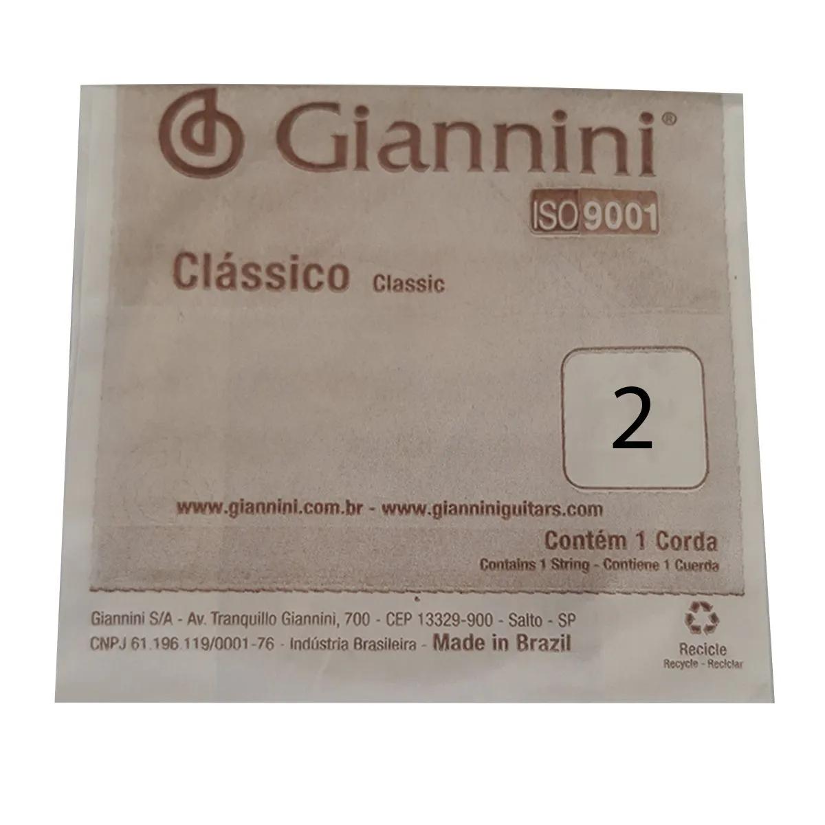 Corda Avulsa Giannini GENWPALM Segunda Si para Violão Nylon