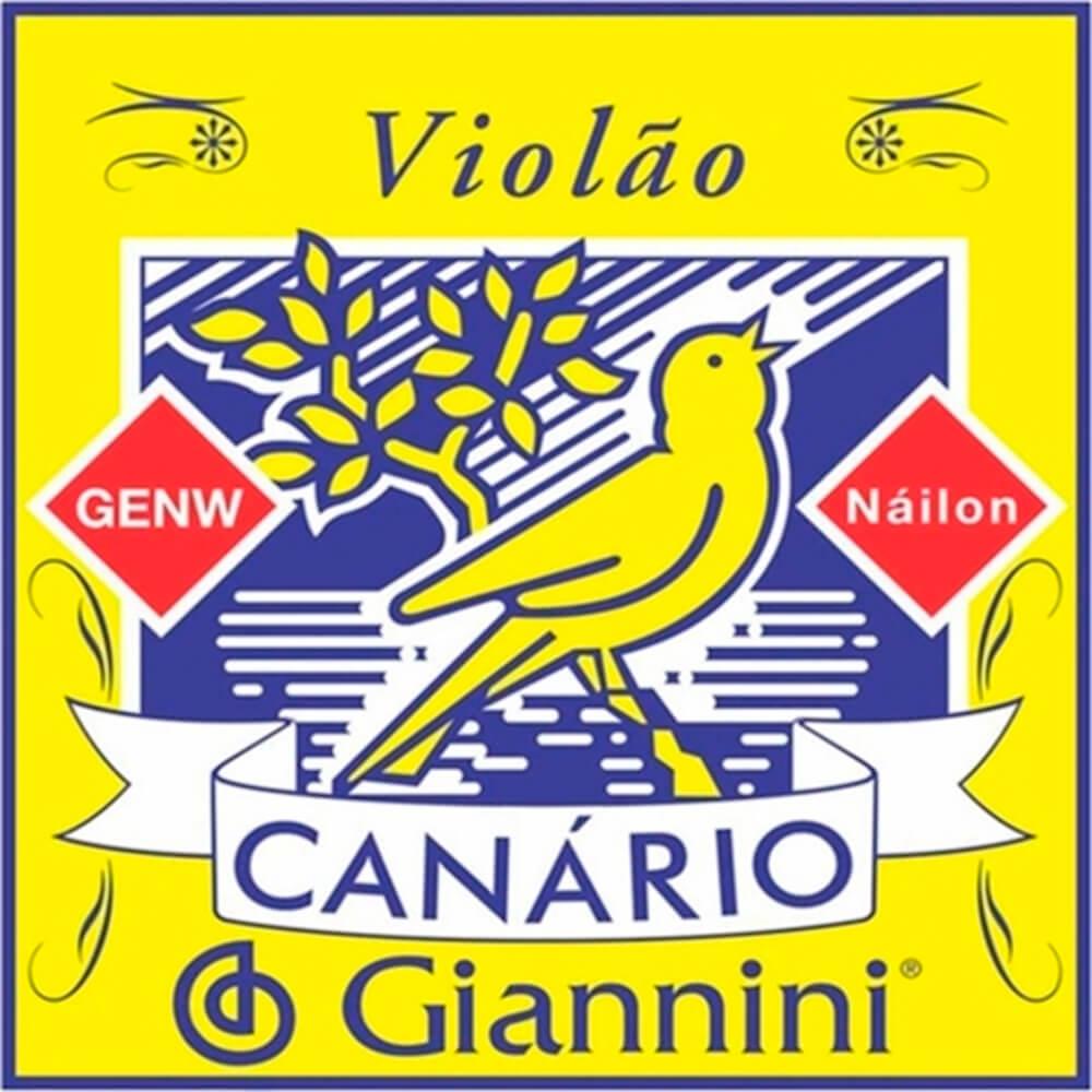 Corda Giannini GENW6 Nylon 6a (MI) para Violão - DZ / 12