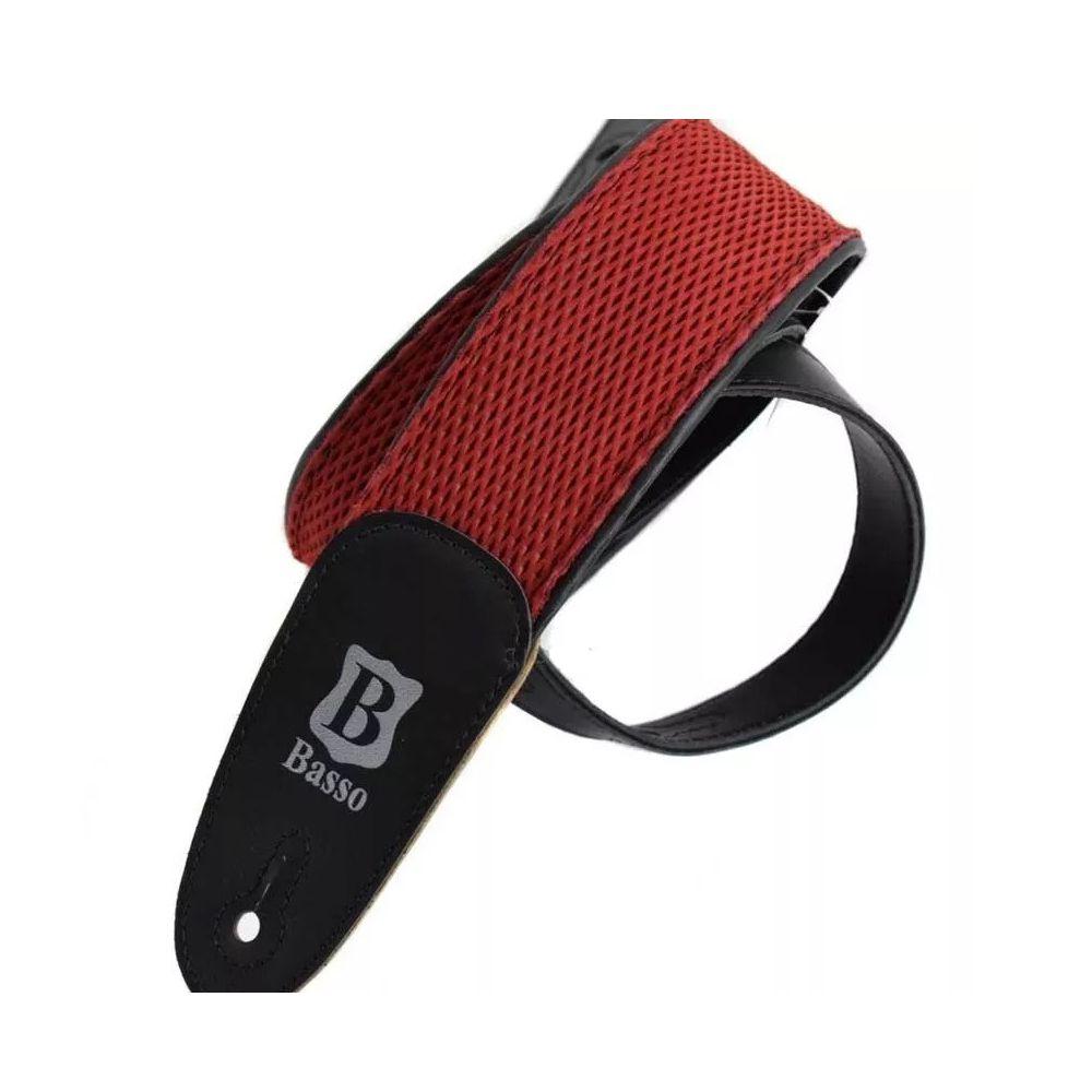 Correia de Couro Basso TW 32F Tweed Vermelha