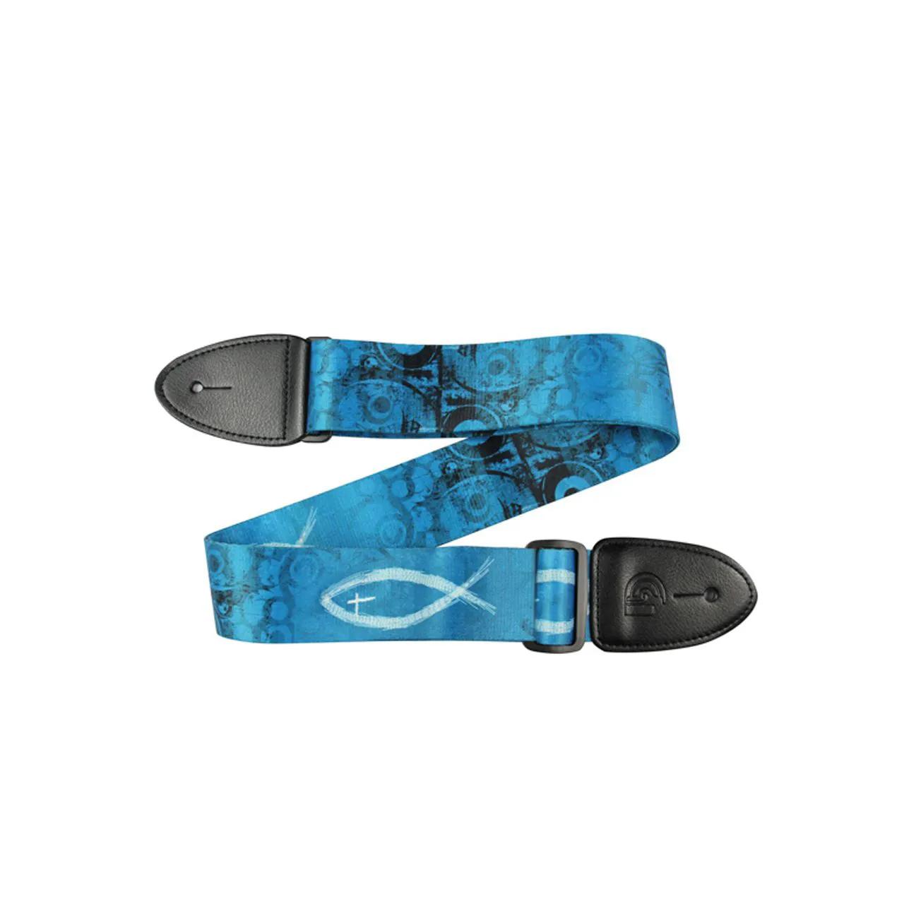 Correia Gospel Peixe Grafismo Azul 5cm Dolphin