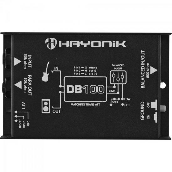 Direct Box Passivo DB100 Preto HAYONIK