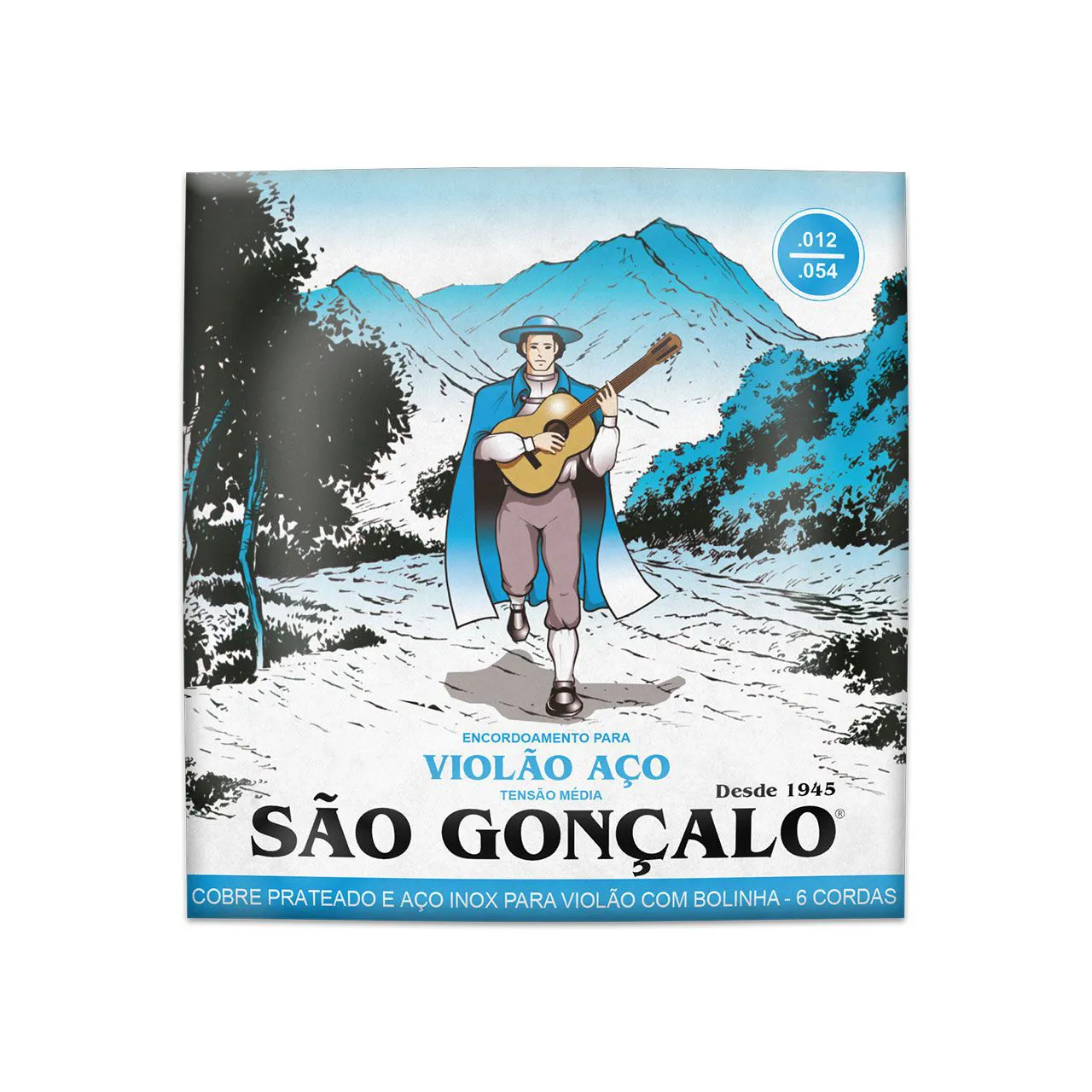 Enc. 012 Aco Prata C/ Bolinha P/ Violao Cx C/3 Sao Goncalo