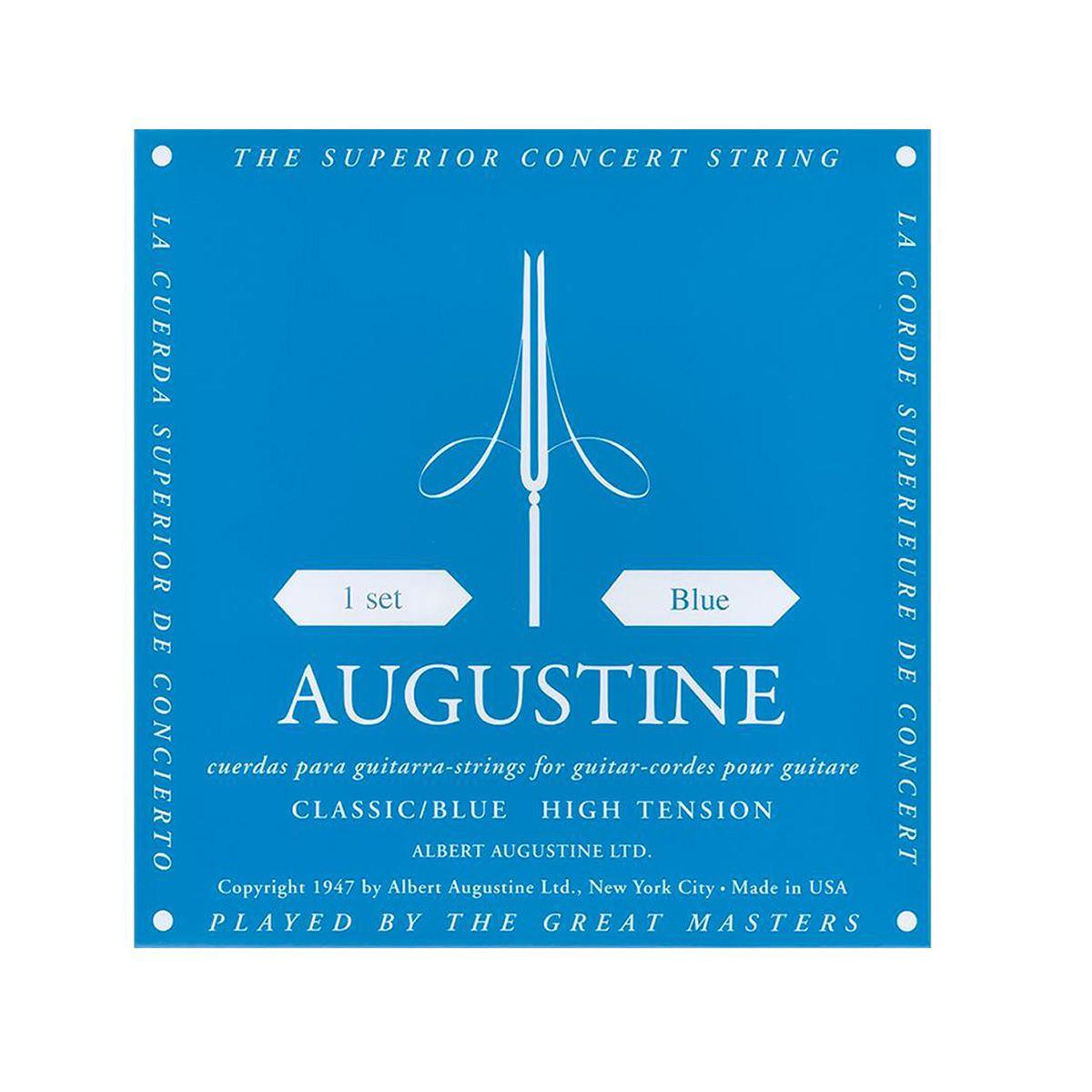 Encordoamento Augustine Classic/blue Tensão Alta Nylon
